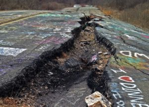 Centralia, Pennsylvania unusual place US