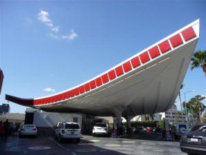 strange gas station